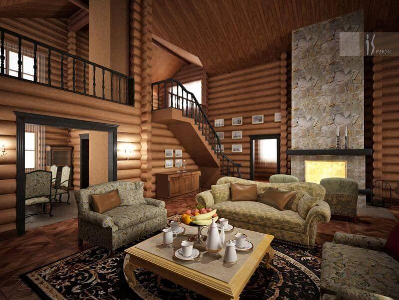 Деревенский дом: правильное оформление интерьера