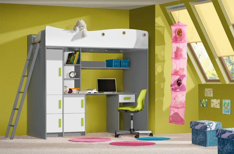 Детская кровать-чердак, характеристики, разновидности, производители