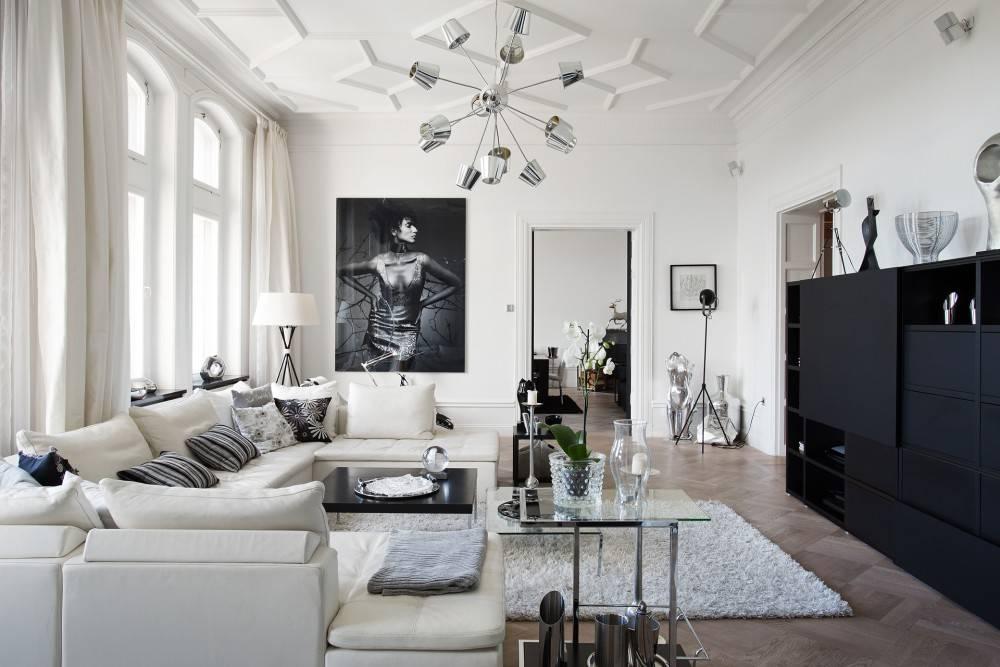 Черная гостиная: 100 фото идей дизайна, сочетаний