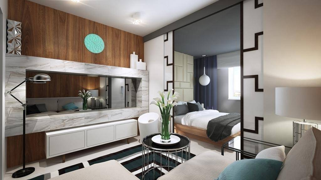 Зонирование гостиной и спальни — обзор лучших идей, как совместить два интерьера (130 фото новинок дизайна)
