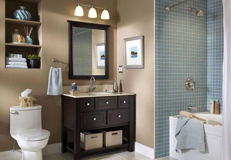 Декор ванной — оригинальные решения и интересные идеи оформления, 145 фото