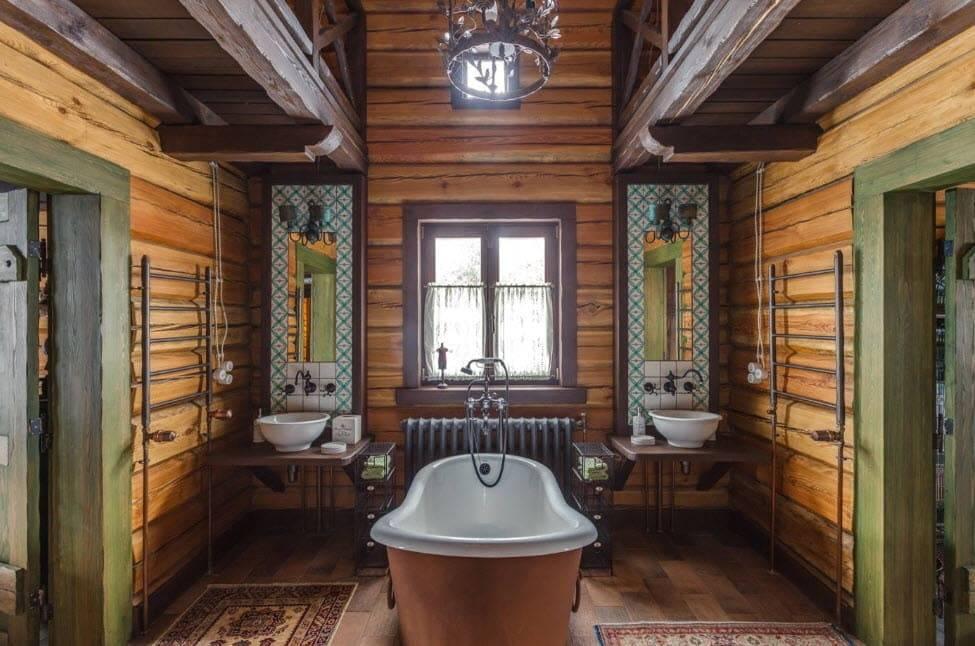Ванная комната в деревянном доме: особенности строительства и отделки