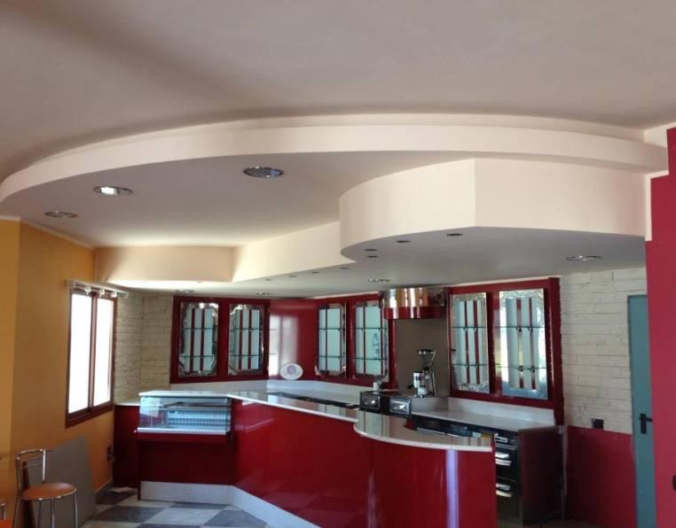 Потолки из гипсокартона на кухне: варианты оформления