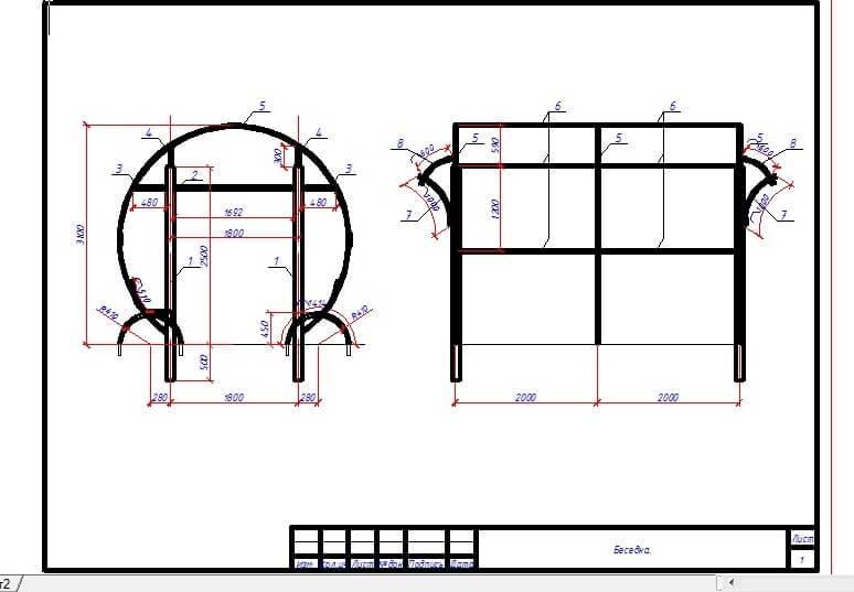 Беседка из профильной трубы своими руками (56 фото) чертежи конструкции, как сделать из металлопрофиля, каркас из профиля