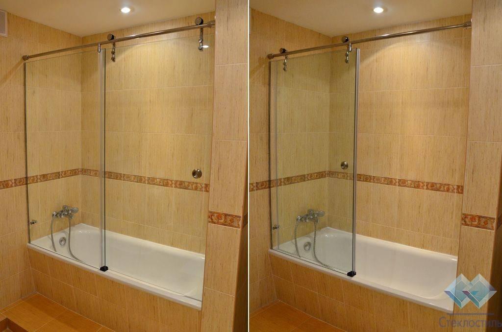 Ширмы для ванн: конструктивные особенности и монтаж