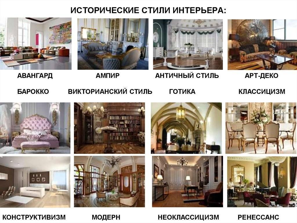 Какие бывают стили интерьера — более 30 фото примеров