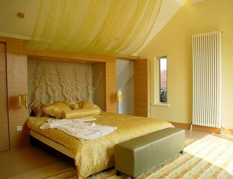 Потолок из гипсокартона в спальне: доступность и красота