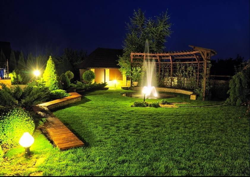 Освещение участка - 100 фото ландшафтного дизайна и варианты выбора освещения
