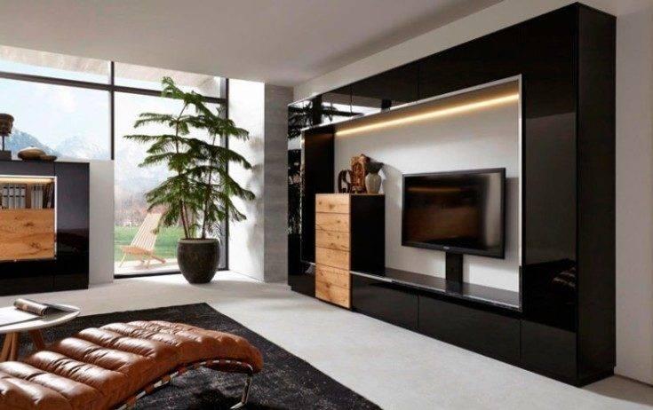 Мини-стенки для гостиной - 100 фото новинок дизайна