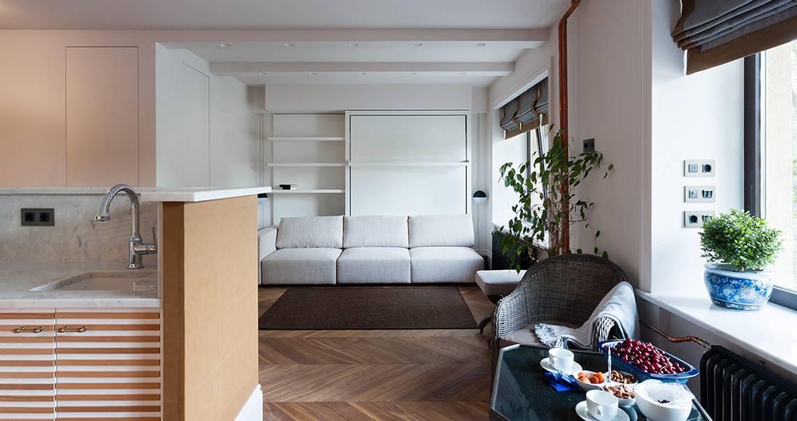 Дизайн студии 28 кв. м — планировка и примеры интерьера +50 фото