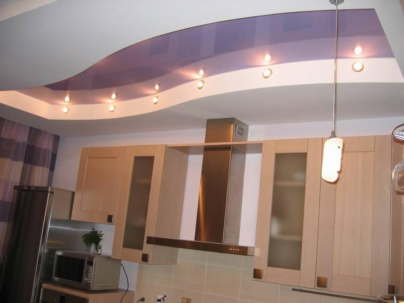 Потолки из гипсокартона на кухне: варианты и виды красивого дизайна примерах фото и видео