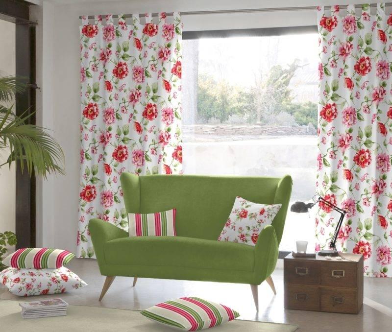 Цветные шторы – 75 фото самых красивых вариантов в интерьере