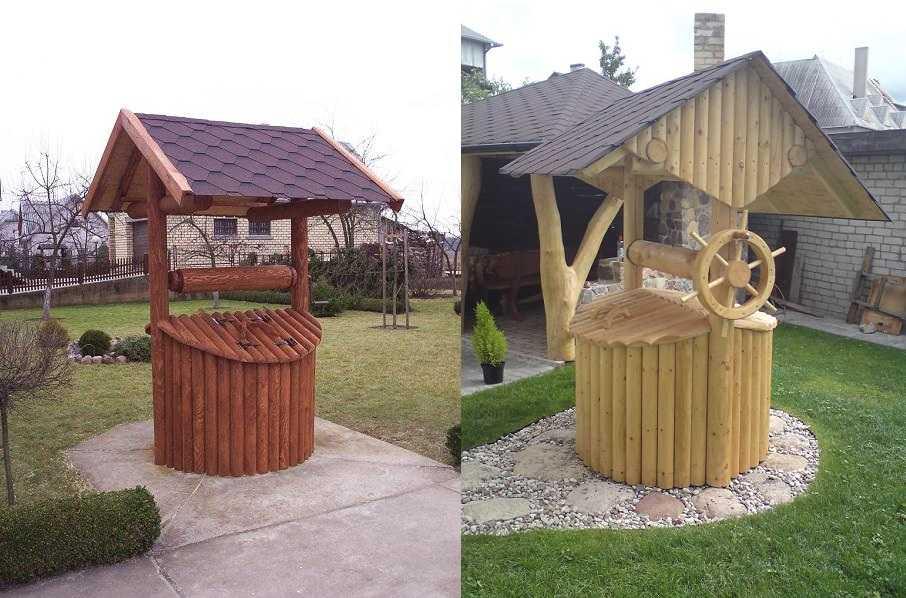 Строительство домика для колодца — 55 фото красивых вариантов для дачи