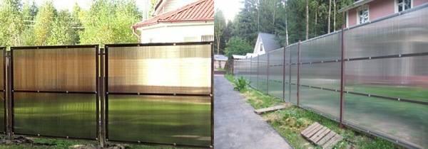 Забор из поликарбоната на металлическом каркасе, особенности материала и монтажа