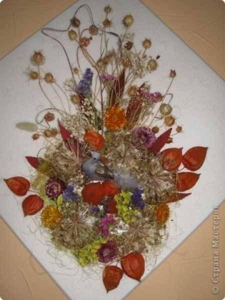 Панно из лепестков роз. картины из сухоцветов своими руками