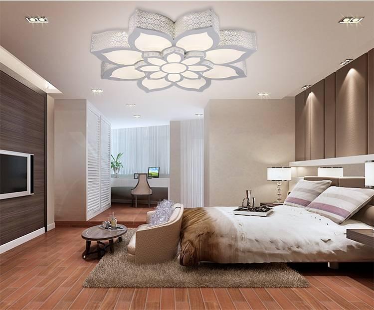 Потолок с подсветкой в спальне: особенности выбора и организации освещения, лучшие идеи стильного дизайна (фото примеры)