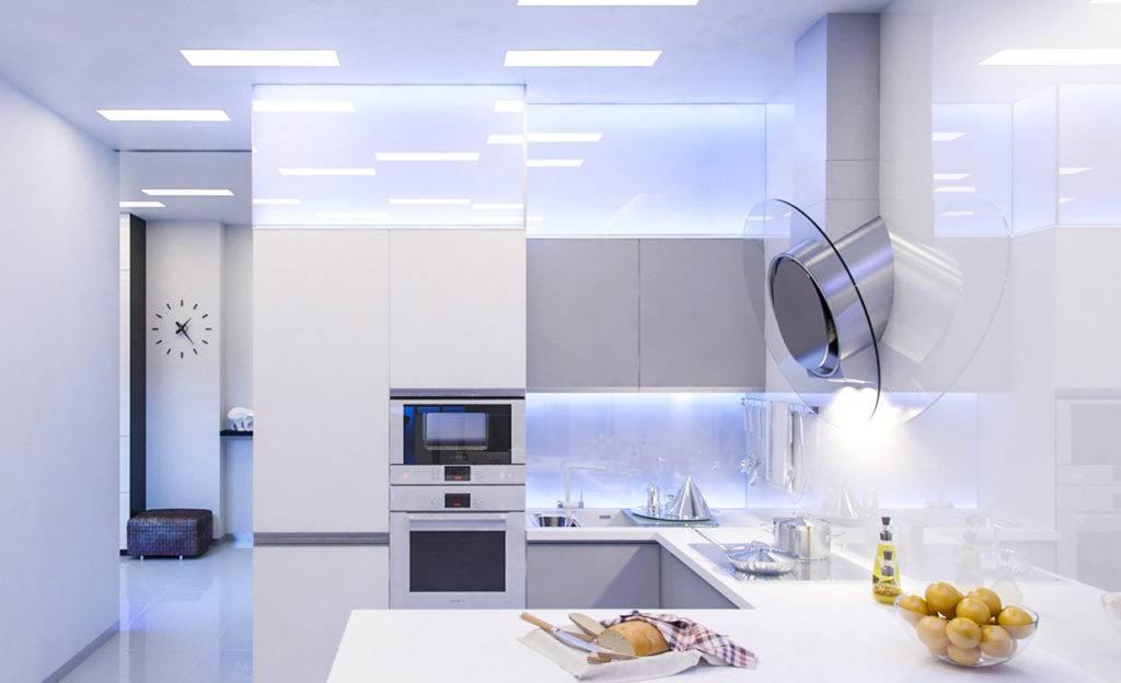Кухня в стиле хай-тек: четкие советы по ремонту и дизайну интерьера (35 фото)