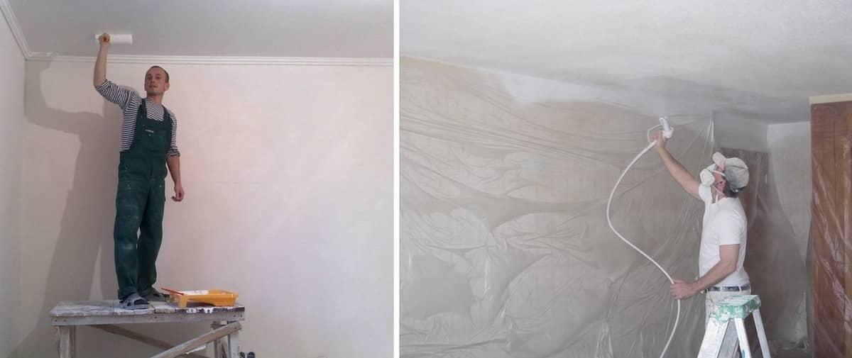 Какая краска лучше для потолка на кухне и как покрасить своими руками