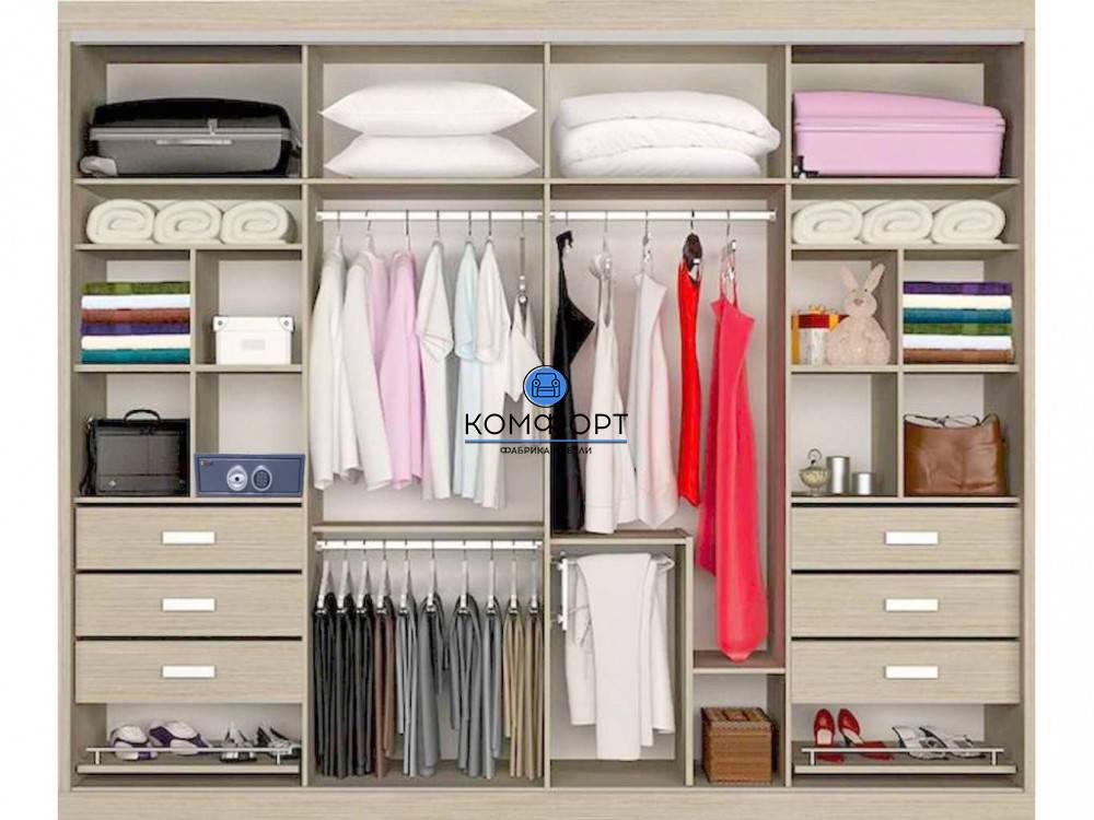 Варианты наполнения шкафа-купе: советы специалистов