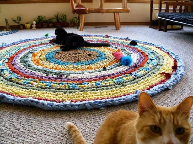 Коврики своими руками — 120 фото лучших идей создания стильных ковриков из старой одежды
