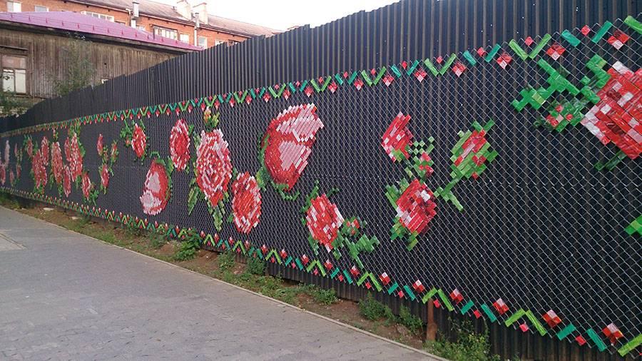 Забор из сетки-рабицы - 115 фото лучших конструкций и особенности их монтажа