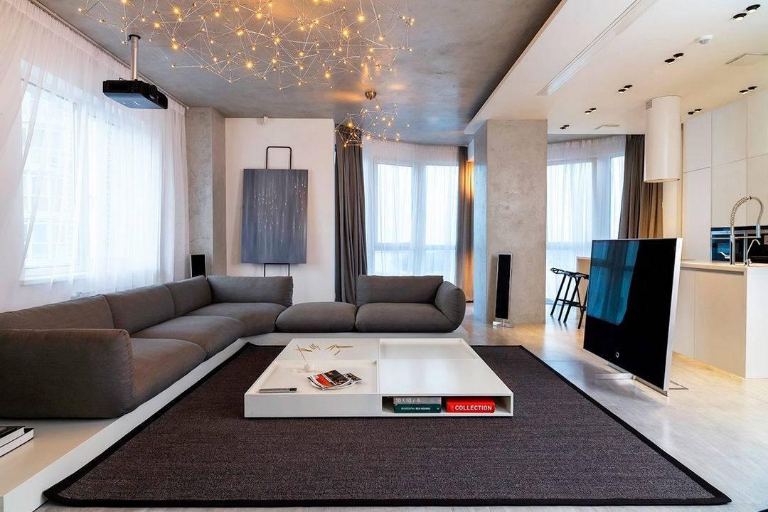 Дизайн гостиной в стиле минимализм: особенности, отделка, мебель, аксессуары