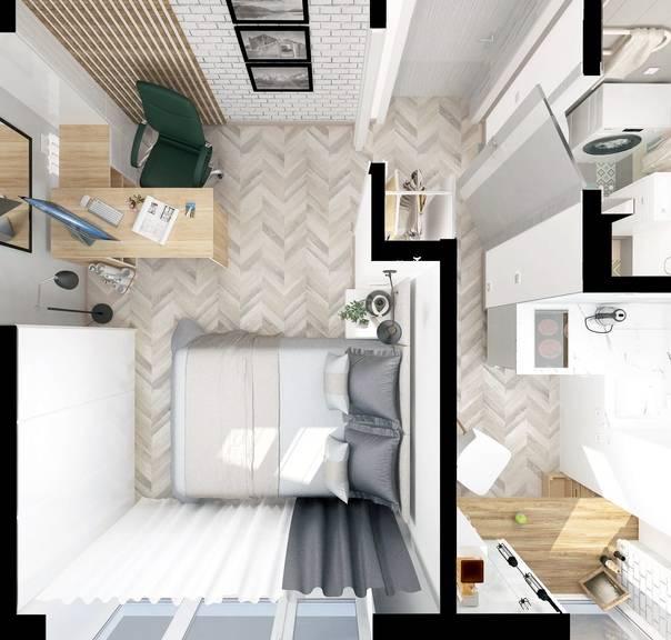 Современный дизайн квартиры 50 кв. м | gd-home.com