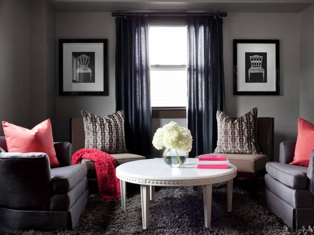 Серые шторы, 70 фото вариантов дизайна