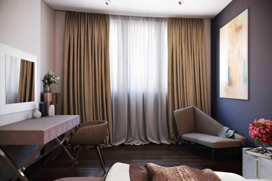Цвет штор к бежевым обоям, выбираем гармоничный оттенок к стенам в холодной, теплой и нейтральной гамме - 20 фото