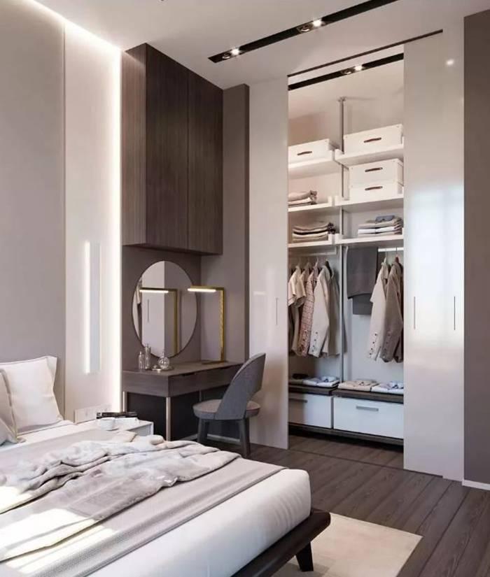 Гардеробная в спальне: лучшие идеи оформления. 100 фото обустройства с подробными инструкциями!