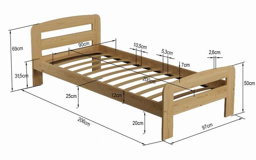Как сделать односпальную кровать своими руками: инструкция по изготовлению, чертежи и схемы