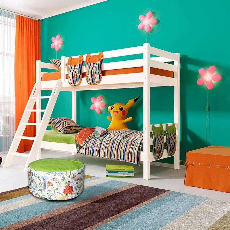 Двухъярусная детская кровать в интерьере спальни: 75 фото дизайна