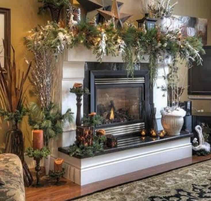 Декор дома на новый год. 100 идей с фото