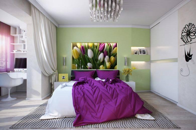 Сиреневая спальня: 130 фото новинок дизайна интерьера в сиреневых тонах