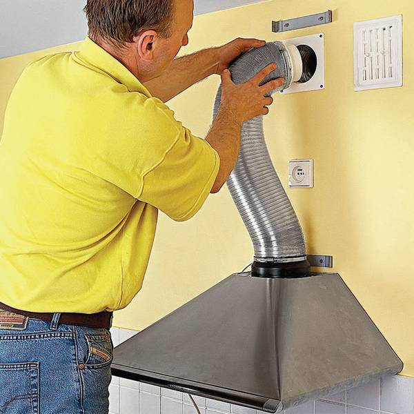 Как установить вытяжку над газовой плитой: пошаговый инструктаж по монтажу