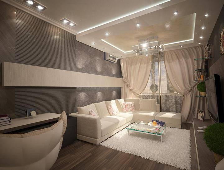 Дизайн проект двухкомнатной квартиры 60 квадратных метров в москве, фото дизайна интерьера, цены 2020 году