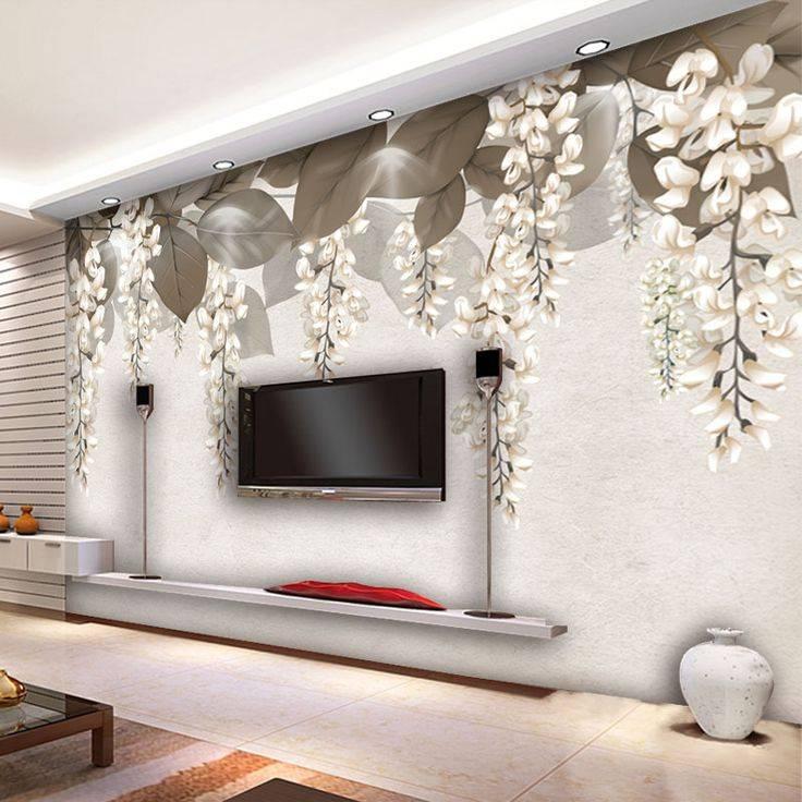 Дизайн стен в гостиной, декор в современном стиле: варианты отделки  - 40 фото
