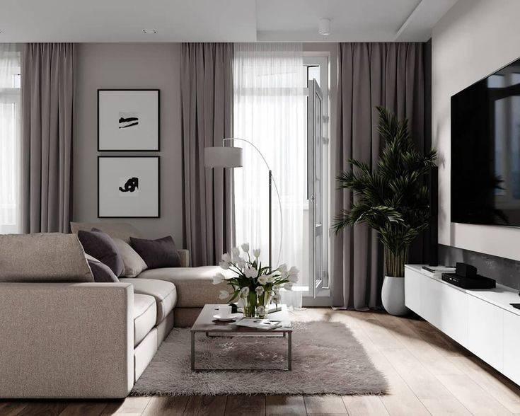 Дизайн спальни-гостиной 18 кв. м (79 фото): интерьер и зонирование двух комнат в одной, разделение совмещенных зала и спальни в квартире, планировка прямоугольной комнаты