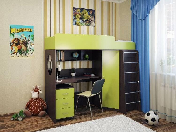 Кровать-чердак - 96 фото использования в комнатах с высоким потолком