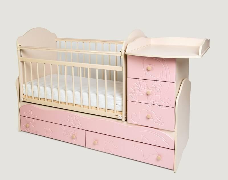 Примеры дизайна детских кроваток с пеленальным столом