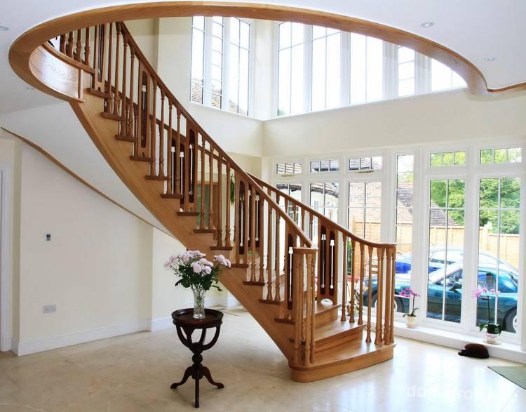 Перила для лестницы в частном доме: выбор типа ограждений, используемые материалы, фото и видео