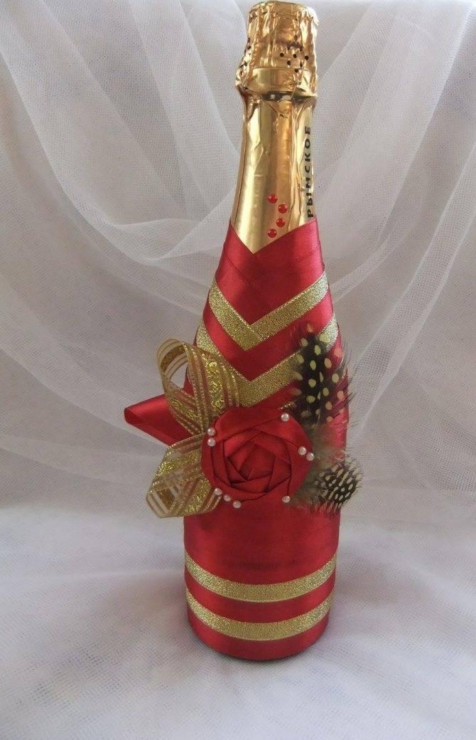 Декор бутылок: мастер-класс изготовления и варианты украшения своими руками (110 фото)