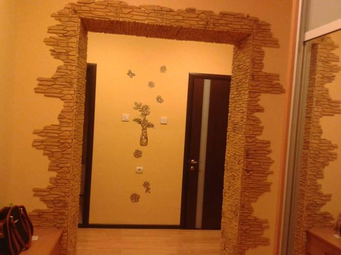Отделка арки декоративным камнем: 50+ фото оформления дверных проемов