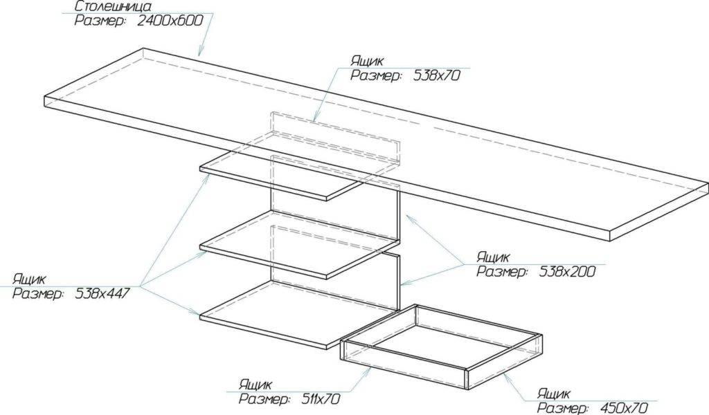 Размеры кухонных столов: виды и формулы расчета