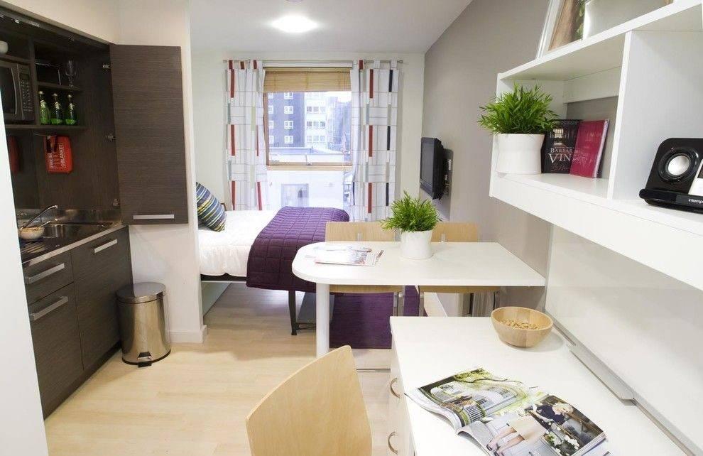 Особенности, ремонт и дизайн однокомнатной квартиры-студии
