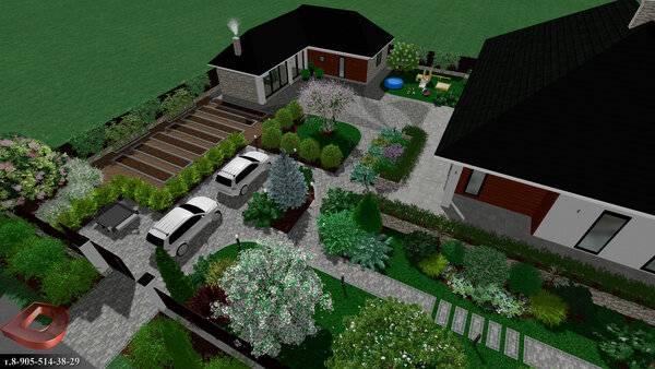 Ландшафтный дизайн и планировка маленького земельного участка