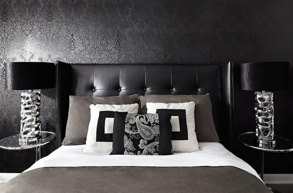Черная спальня: топ-150 фото новинок, выбор цвета и размещения мебели для красивого дизайна