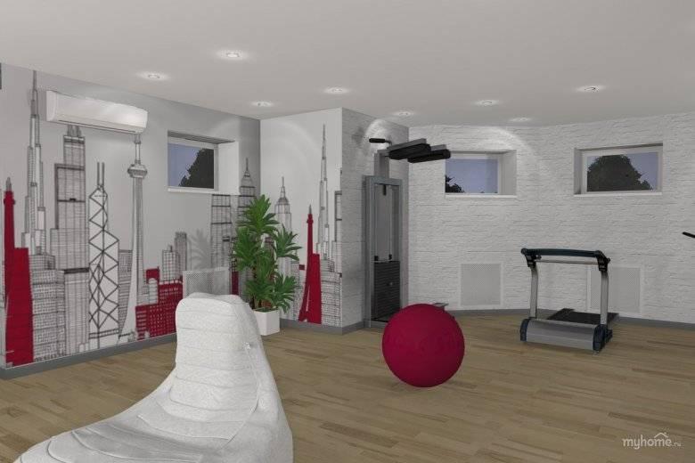 Функциональный дизайн спортзала +75 фото интерьера