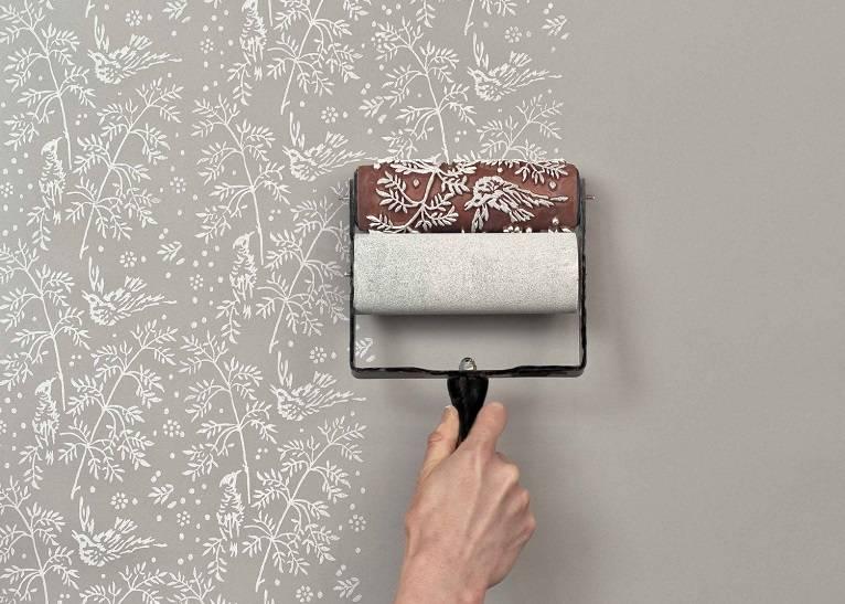 Виниловые обои под покраску: особенности использования, технология окрашивания
