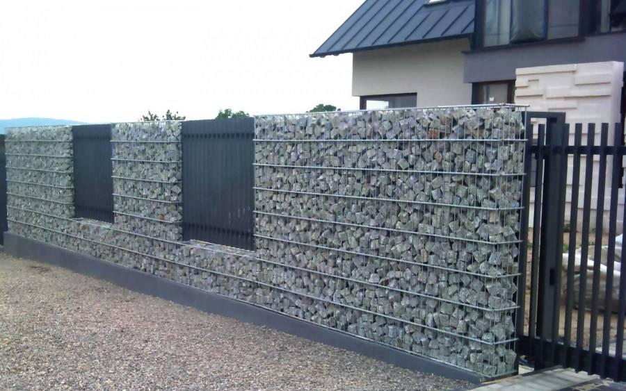 Забор из габионов своими руками: камни в сетке рабице, пошаговая инструкция, цена, фото и видео